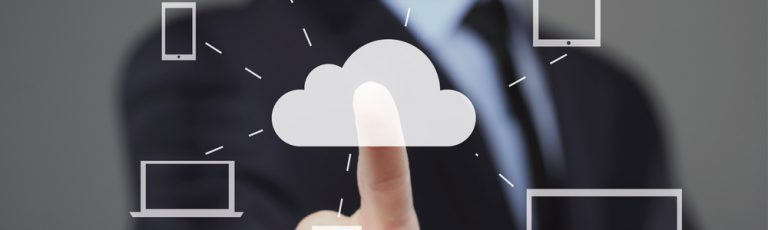 hand clicking on cloud
